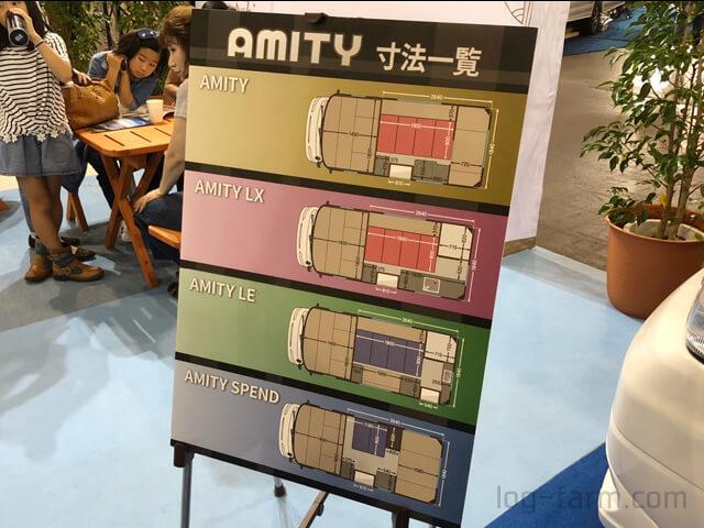 4種類のアミティシリーズ