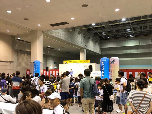 大阪キャンピングカーフェアのイベント会場