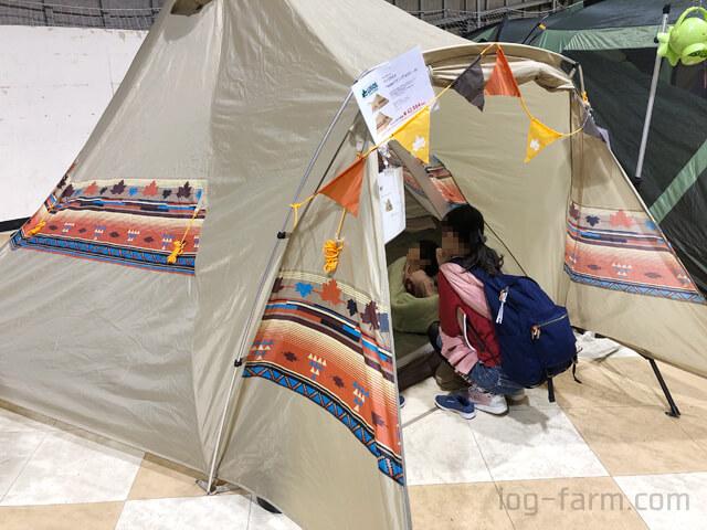 LOGOSのTepee型テント