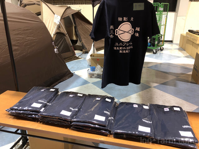 ユニフレームのTシャツ