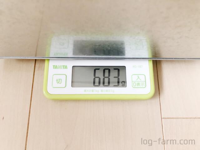 トタンボックス(小)の重さは約680g