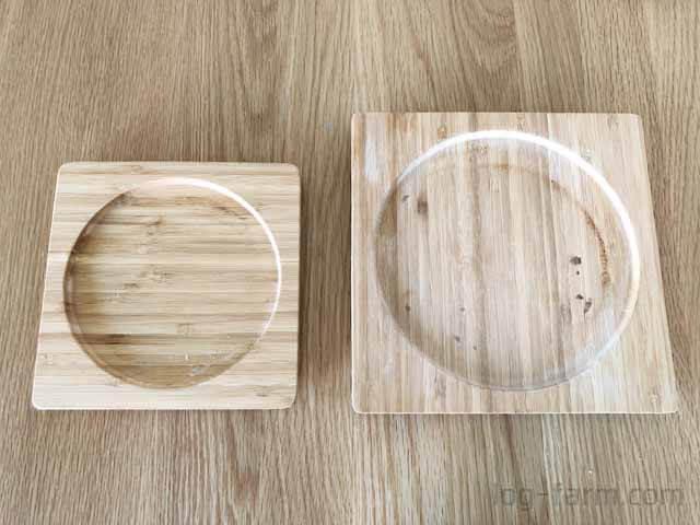 スキレット用の木台角型
