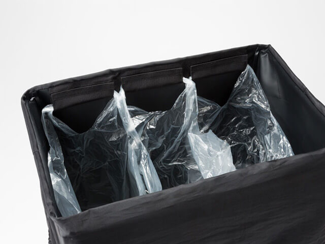 SnowPeak ガビングスタンドは3袋まで留められる