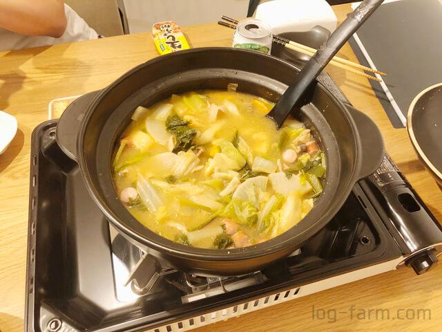 焼き上手さんαでキムチ鍋