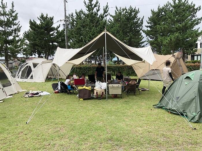 テントやタープのサイトレイアウト