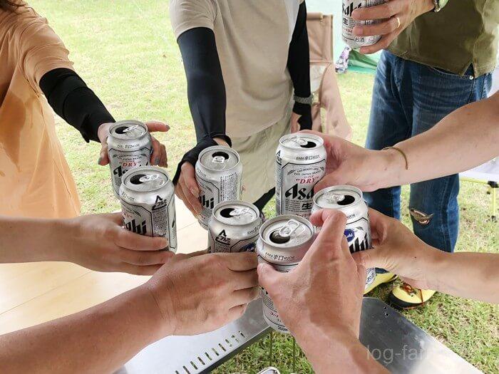 ビールで乾杯!