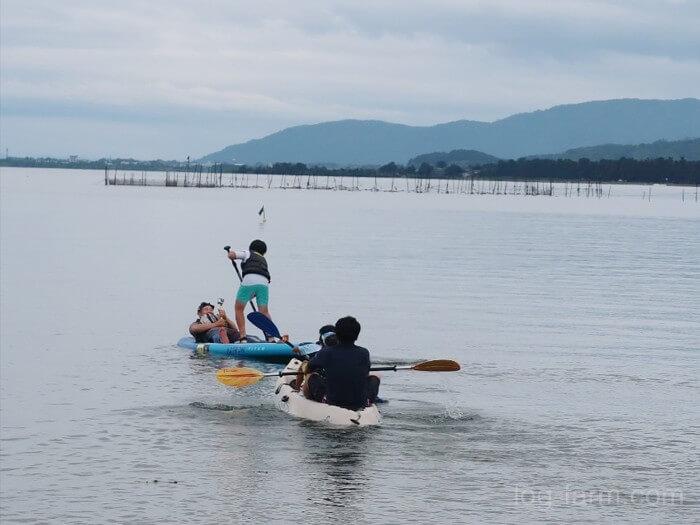 琵琶湖でボートやカヤック遊び