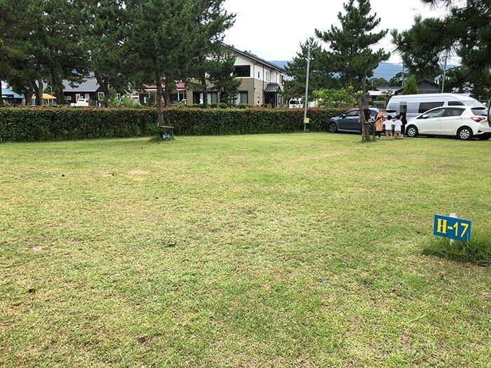 知内浜オートキャンプ場のサイト