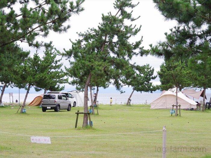 知内浜オートキャンプ場のHサイト