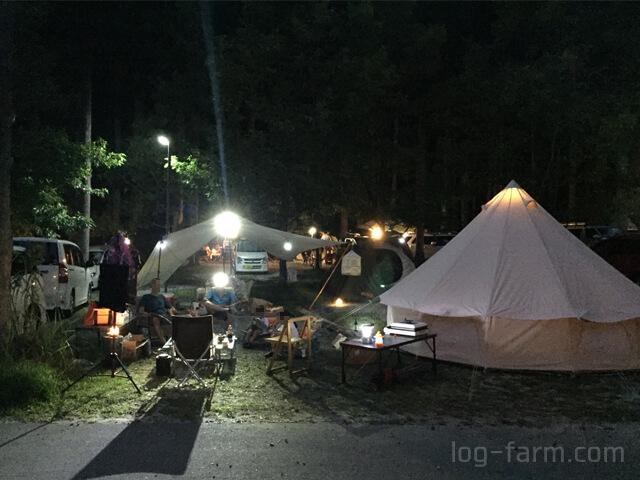 洞川キャンプ場で宴会