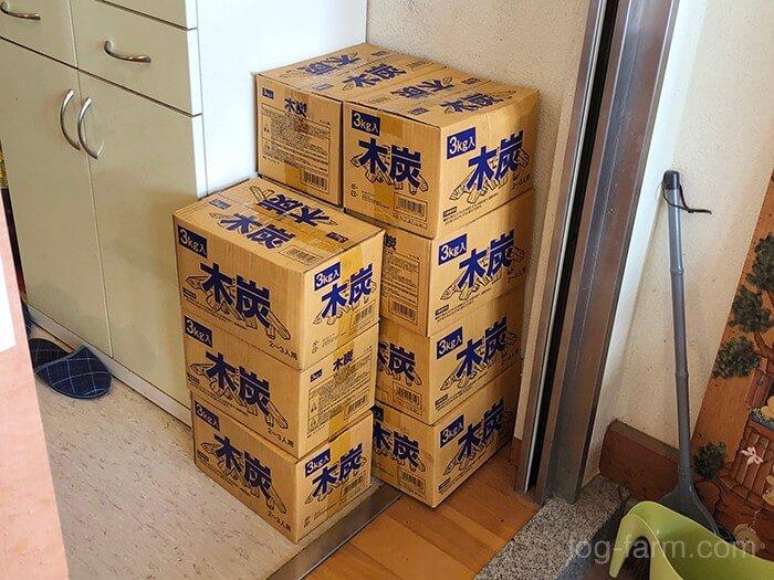 木炭(3kg 600円 着火剤付き)