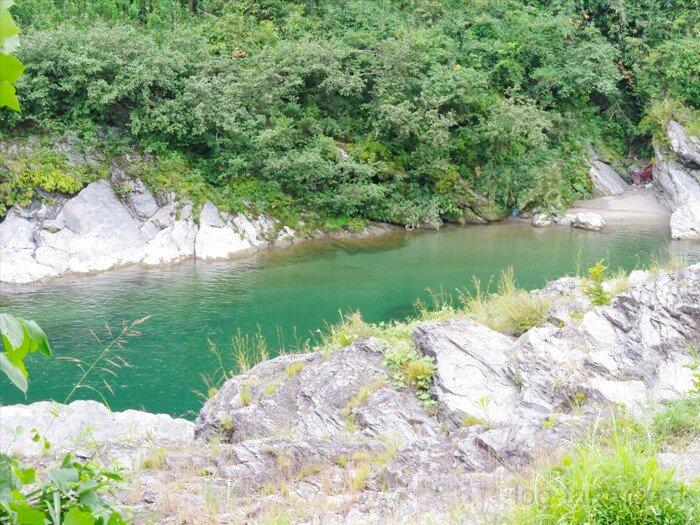 カルディアキャンプ場近くの吉野川