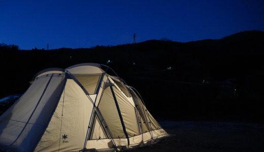 【2020冬】気温0℃の真冬に笠置キャンプ場へソロで出撃【ポールが曲がる&カメラが倒れる悲報も】