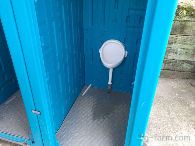 笠置キャンプ場のトイレ(小便器)