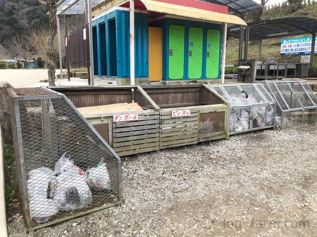 笠置キャンプ場のゴミ捨て場