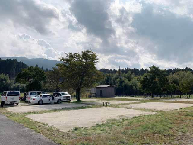 朽木オートキャンプ場のフリーサイト