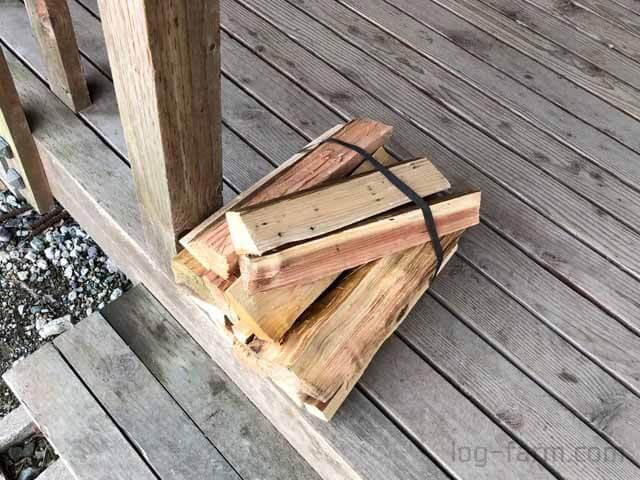 朽木オートキャンプ場の薪