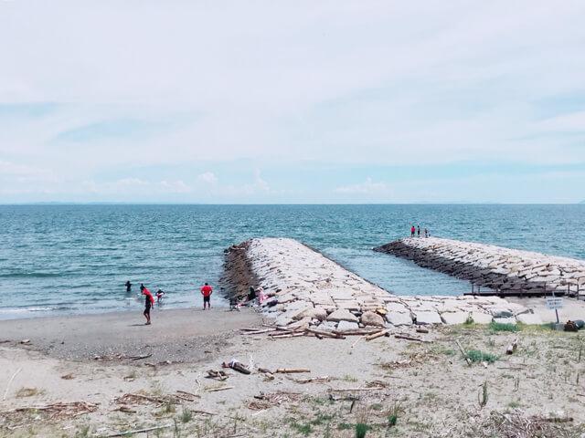 大淀西海岸ムーンビーチキャンプ場のすぐそばにある大淀海岸
