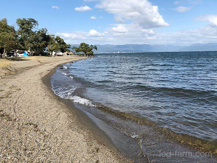 琵琶湖沿いの最高なロケーション
