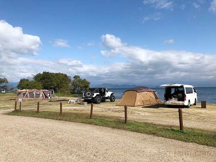 六ツ矢崎浜オートキャンプ場のペットサイト