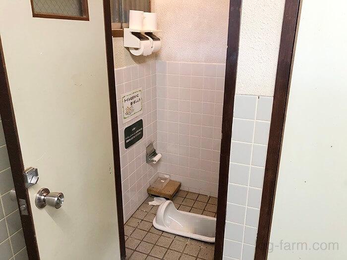 トイレが和式(ボットン便所)