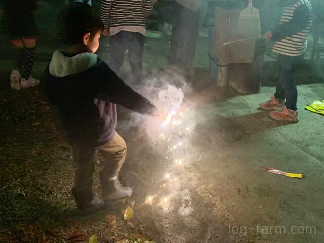 OKオートキャンプ場で花火