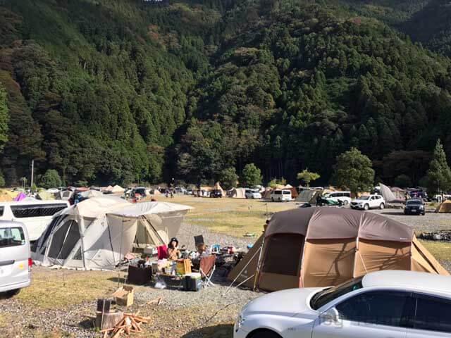 完成したキャンプサイト