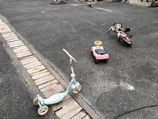 白川渡オートキャンプ場で借りられる自転車など