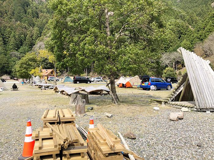白川渡オートキャンプ場のアスレチック設備