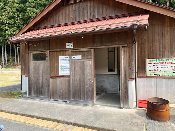 白川渡オートキャンプ場の古い炊事棟