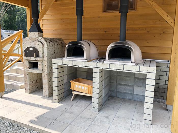 白川渡オートキャンプ場のピザ窯