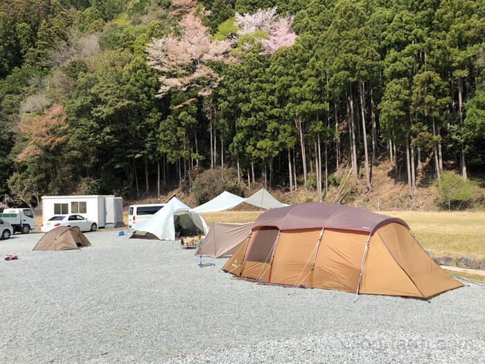 キャンプサイト全体