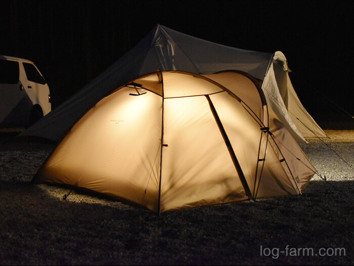 夜のミニッツドーム