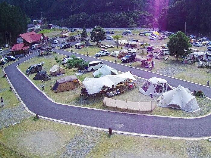 ドローンで白川渡オートキャンプ場を空撮