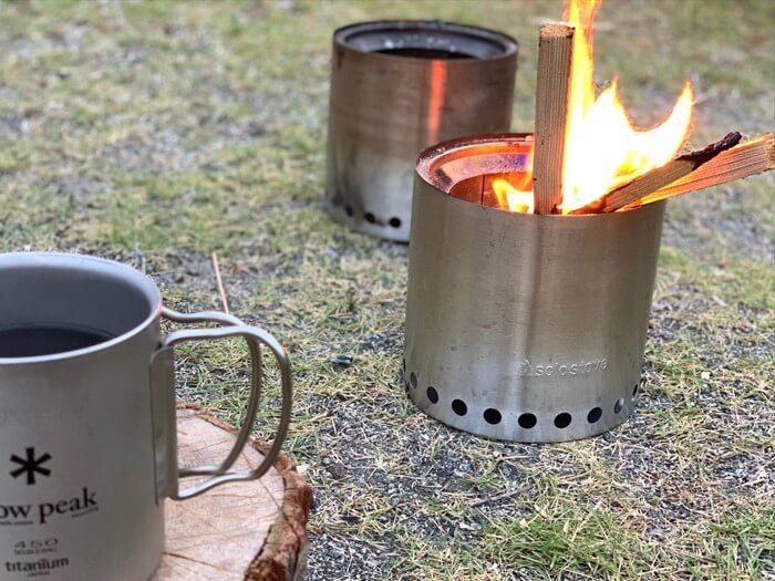 ソロ ストーブで焚き火