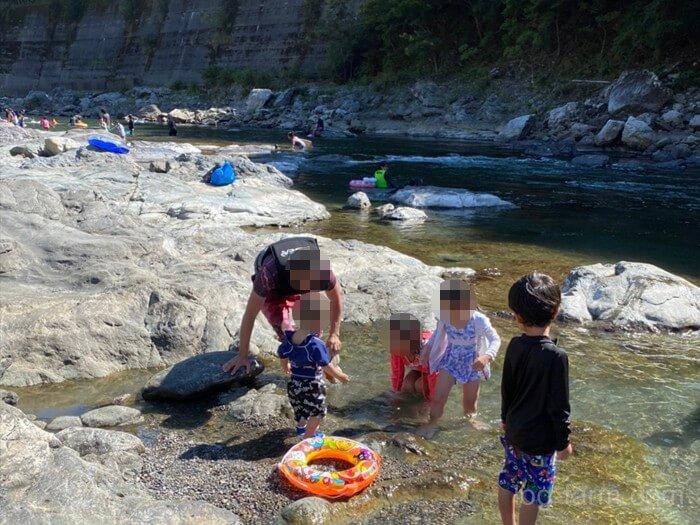 吉野川で遊ぶ