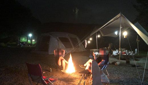 【2020夏】雨天の砂利サイトが最高!スノーピーク箕面キャンプ場(Bサイト)に出撃