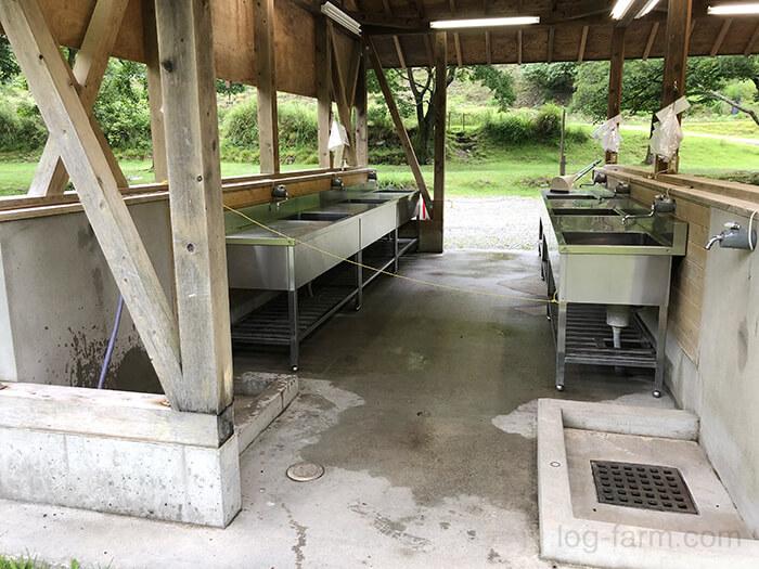 スノーピーク箕面キャンプフィールドのA・Bサイト共用炊事場