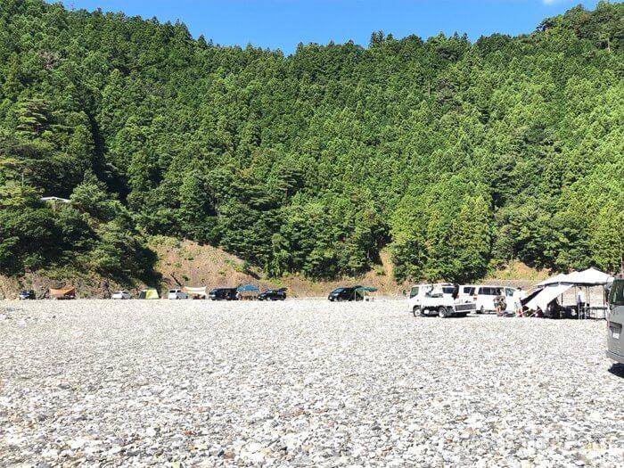 谷瀬つり橋オートキャンプ場に到着!