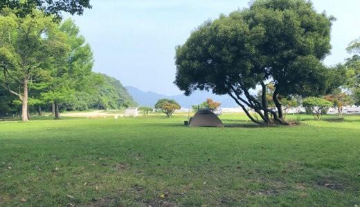 【2020夏】田の浦野営場で無料ソロキャンプ【海が広がる最高の野営地】