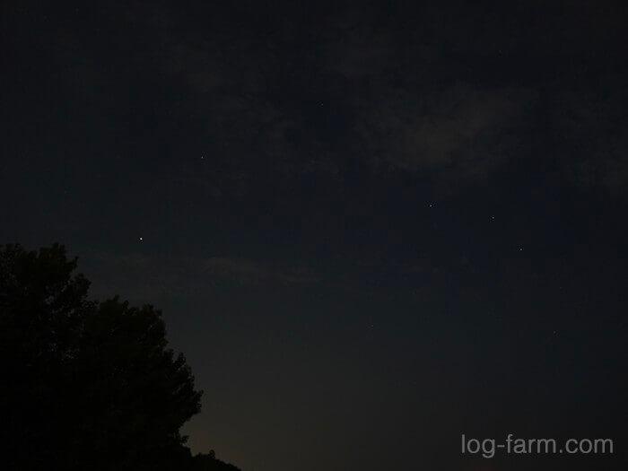 田の浦野営場から見える星空