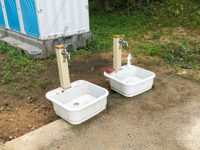 田の浦野営場の洗い場