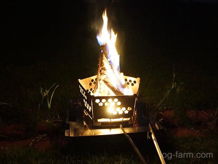 mooseの/FIRE STAND/〜灯篭〜で焚き火