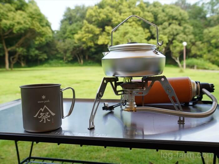 キャンプ翌日の朝コーヒー