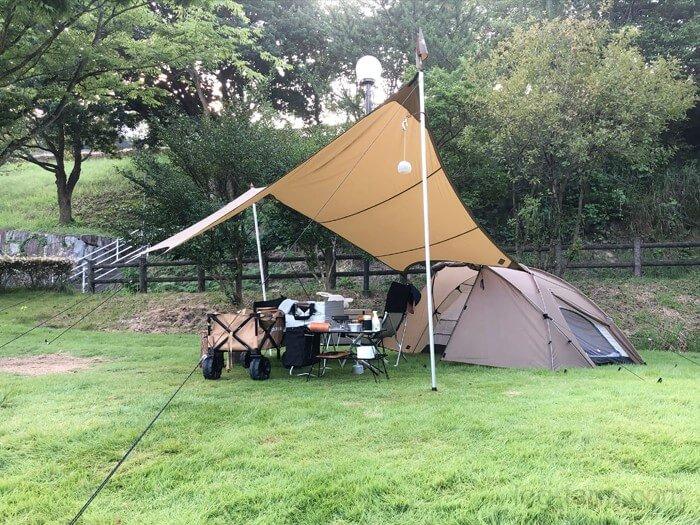 とらまる公園キャンプ場でキャンプ