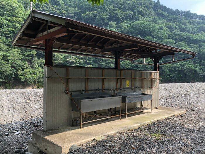 つり橋の里キャンプ場の流し(1)