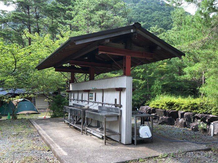 つり橋の里キャンプ場の流し(2)