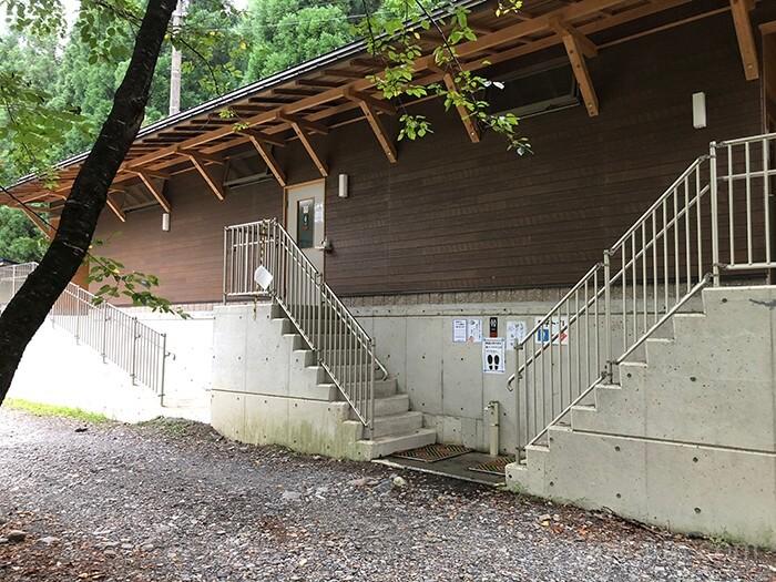 つり橋の里キャンプ場のトイレ