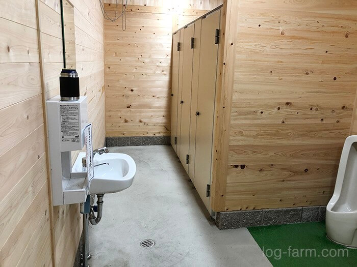 つり橋の里キャンプ場のトイレの中