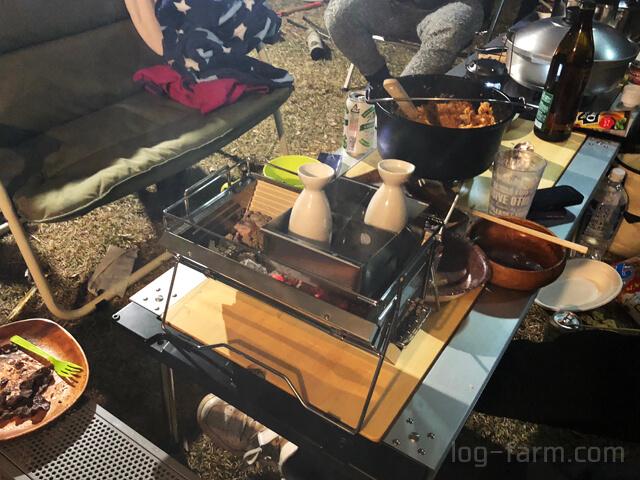 ユニフレームのユニセラ熱燗あぶり台
